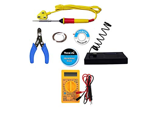 THEMISTO - built with passion Electric Soldering Iron Kit 25W (Multicolour)