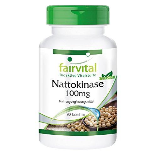 Nattokinase 100mg - 2000 FU - 90 Tabletten - kann die kardiovaskuläre Gesundheit unterstützen Test