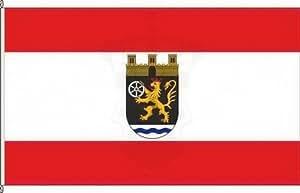 Königsbanner Hochformatflagge Bad Sobernheim - 120 x 300cm - Flagge und Fahne