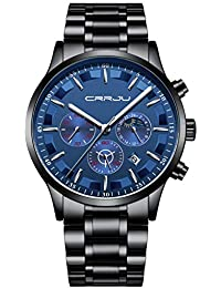 DIKHBJWQ,Uhr Herren schwarz,uhrenbatterien knopfzellen Set,armbanduhren Herren Holz,Uhr Damen,Uhren für Männer