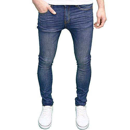 Herren-Marken-Jeans, Skinny Fit, von 526jeanswear, erhältlich in 4Farben Gr. 30W x 34L, Midwash (Marken-denim-jeans)