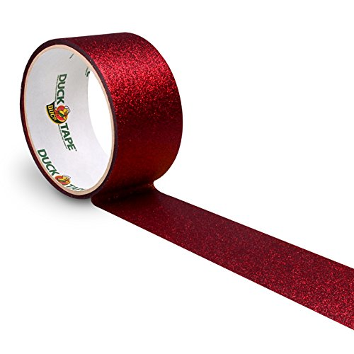 Duck Tape 221305 Glitter Gewebeband, 48 mm x 4,5 m, Rot