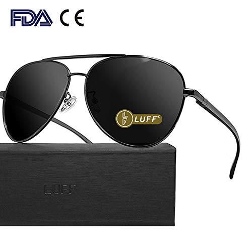 499a8be237b LUFF Retro HD polarizado gafas de sol para hombre y mujer UV400 Protección  anti-Blu