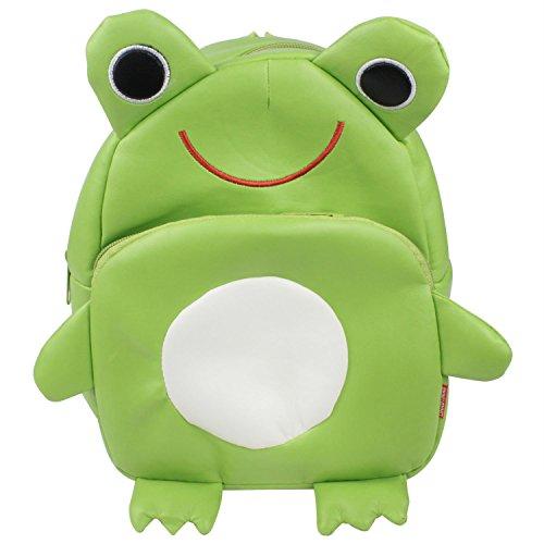 f-eshion Bambini Cartoon zaino borsa in pelle Infant Frog Small