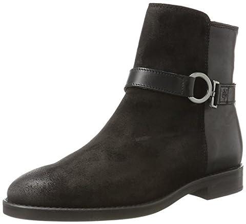 Marc O'Polo Flat Heel Bootie 70814226001311, Bottes Souples Femme, Schwarz (Black), 39 EU