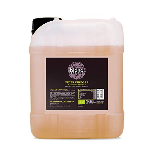 Biona Organic Apple Cider Vinegar Unfiltered with the Mother, 5 Litre