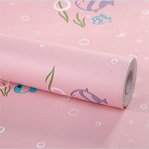 Zhzhco Selbstklebende Pvc-Wallpaper Wallpaper 45Cm*10M Hängt Direkt Kinderzimmer Tapete