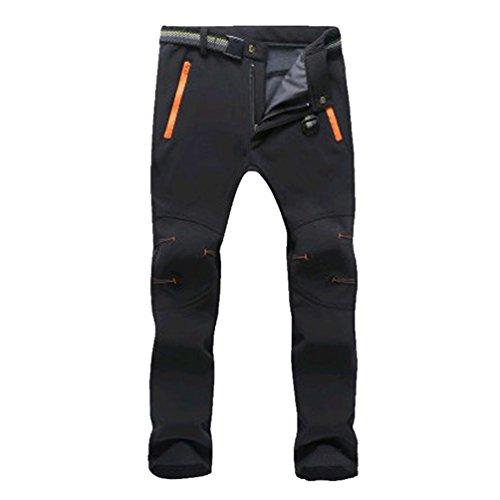 YiLianDa Pantalones de Trekking Pantalones de Softshell Impermeables Resistente al Viento...