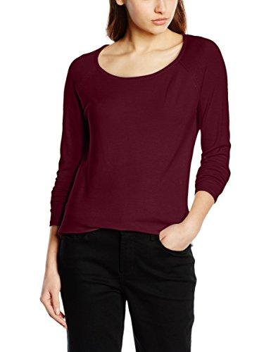 ONLY Damen Onlmila Lacy L/S Long Pullover Knt Noos, Rot (Port Royale Detail:W. Melange), 42 (Herstellergröße: XL) (80% Viskose 20% Polyester)