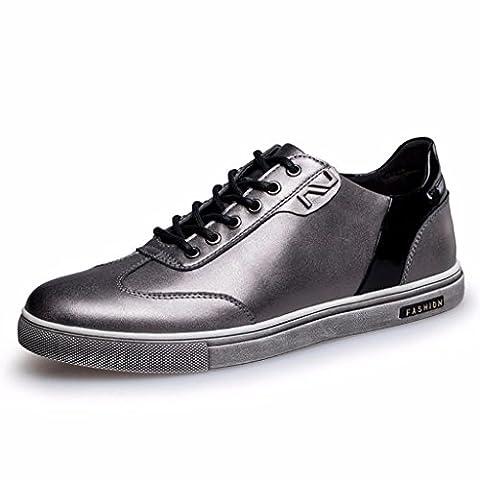 Moonwalker Herren Leder Sneakers ( EUR 38,Silber)
