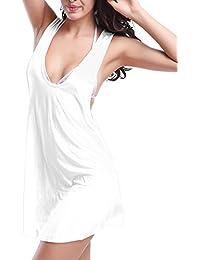 Moollyfox Pareo De Playa Estilo De Chaleco Secado Rápido Cubierta Camisola De Bikini Coverup Talla Única