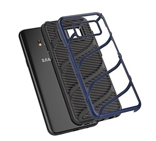 Coque Galaxy S8/S8 Plus Wouier® Premium Soft Bumper Amor Absorbant les Chocs housse etui Shockfroof Double-couche Hybride Rose rouge