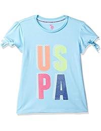 USPA Kids Baby Girl's Plain Regular fit T-Shirt
