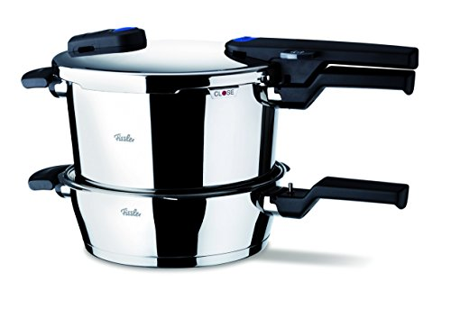 Fissler Vitaquick FL60030013000 Set of 6 Litre Pressure Cooker 3.5 Litre Pan with Glass Lid