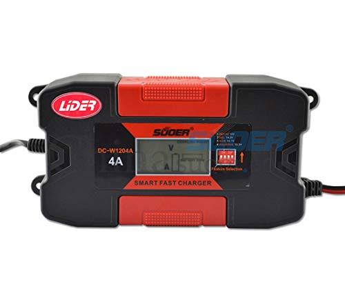 LIDER-Cargador Bateria Coche 4A 12V Super Nuevo Diseño