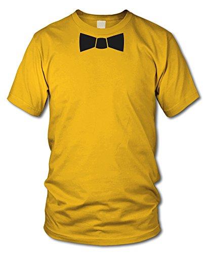 shirtloge - T-SHIRT mit FLIEGE - FUN T-Shirt - KULT - in verschiedenen Farben - Größe S - XXL Gelb
