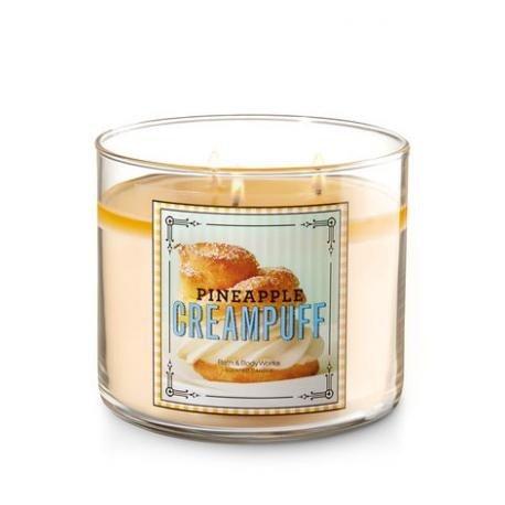 3 wick candles Pineapple cream Puff Bath & Body Works (Works Sweet Body)