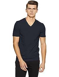 Celio shirt - Uni - Col V - Manches courtes - Homme