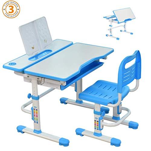 80cm Altura Ajustable niños estudio Conjunto escritorio y silla, pupitres escolares para...