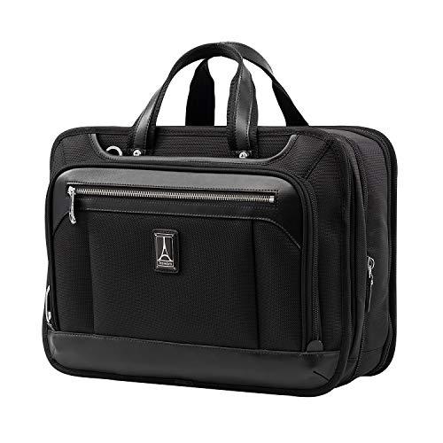 Travelpro Platinum Elite Bagaglio A Mano Morbido Valigetta Business 33x41x21 cm, Estensibile e Durevole, con Fascia per Trolley, 28 Litri, Valigia da Viaggio, Garanzia 10 Anni