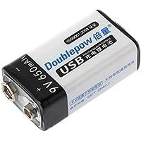 WEISHAZI - Batería de litio recargable de 9 V 650 mAh para micrófono multímetro