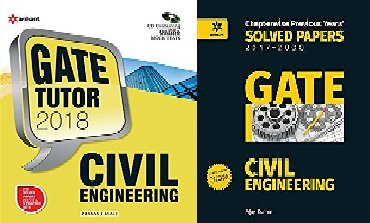 GATE TUTOR 2018 CIVIL ENGINEERING GUIDE WITH SOLVED PAPER TWO BOOK SET
