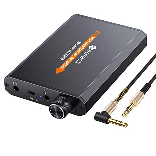 Neoteck Kopfhörer-Verstärker Tragbarer 3,5-mm-Audio-Rechargeble-HiFi-Kopfhörer-Kopfhörer-Verstärker mit Lithium-Batterie und Aluminium-Mattoberfläche