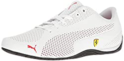 PUMA Mens SF Drift Cat 5 Ultra Walking Shoe, Puma White-Rosso Corsa-Puma Black, 12 M US