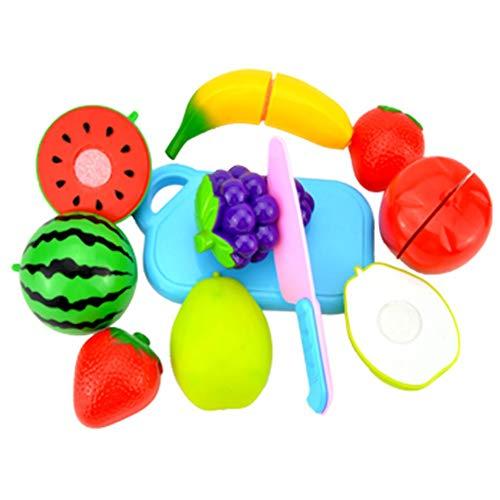 WEISY Schneiden Obst Gemüse Set Spielen Essen Spielzeug Set Küche Lernen für Kinder 3 4 5 6 7 Jahre alt (Spielen Küche-sets)