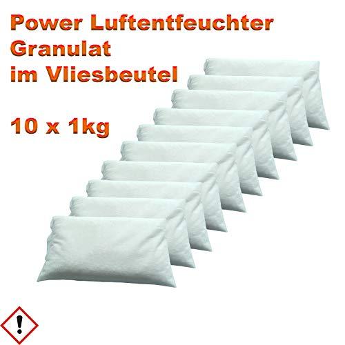10 x 1 kg Luftentfeuchter Granulat im Vliesbeutel Keller-Trockner Anti Feuchtigkeit -