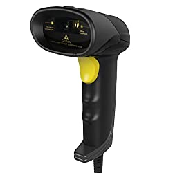 Inateck USB Barcode Scanner Portable Wired 1D Barcode Scanner - Black