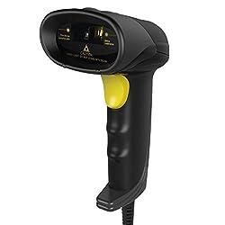 Inateck USB Barcode Scanner Tragbar Kabelgebunden 1D Strichcode-Scanner - Schwarz