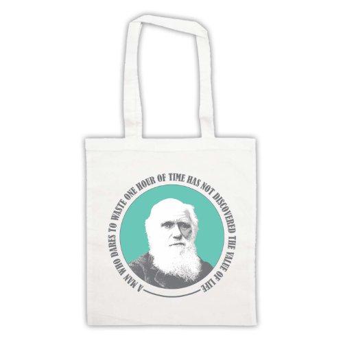 Charles Darwin valore di vita Tote Bag Bianco