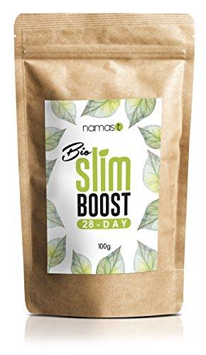 28 Tage Bio Slim Boost Kur - perfekte Ergänzung bei Deiner Detox- Reinigungs- und Fasten-Tee Kur. Loser Kräutertee - Grüner Tee, Mate, Löwenzahn, Brennnessel, u.v.m. - Made in Germany - 100g
