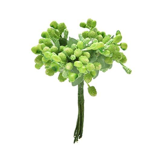 12/Bouquet Fleurs Artificielles En Soie étamine Bud Bouquet de mariage Decor DIY Craft Boîte Cadeau
