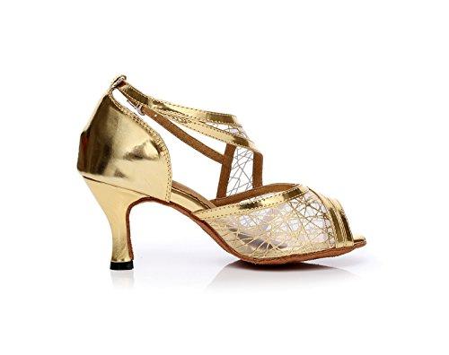 Miyoopark , Damen Tanzschuhe Gold-7.5cm Heel ...