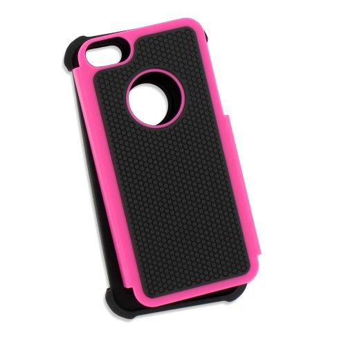 Flip-Case APPLE IPHONE 5 [CroCoChic Premium] [Rosa] von MUZZANO + STIFT und MICROFASERTUCH MUZZANO® GRATIS - Das ULTIMATIVE, ELEGANTE UND LANGLEBIGE Schutz-Case für Ihr APPLE IPHONE 5 bonbon-rosa