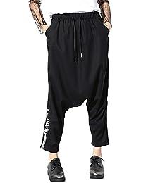 Mujer Pantalones Harem Fashion Anchas con Correas Cruzadas Elegantes  Pantalones De Tiempo Libre Elastische Taille Hipster Streetwear Hip… 84681b3f1c5