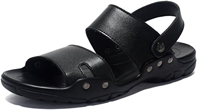 SHANLY Été Grande Taille  s en en s Cuir Ouverte Toed Extérieure Flip Flops Slip sur Piscine Chaussures Marche...B07FM8M98FParent ae3c73