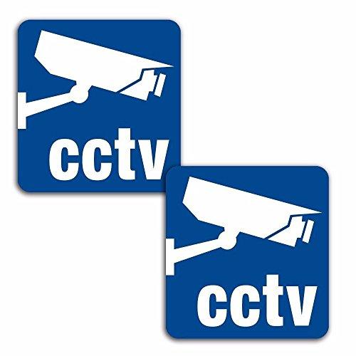 Skino 2 STÜCK Vinyl Aufkleber Stickers Achtung Warnung CCTV Kamera-ÜBERWACHUNG AUTOAUFKLEBER Auto Motorrad Fenster TÜR Fahrrad Tuning B 67 -