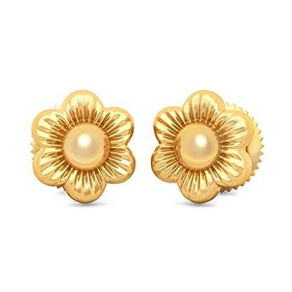 BlueStone 22k (916) Yellow Gold Mettina Stud Earrings for Girls