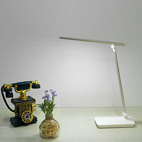 Tischlampe led falten dimmen lernen auge tischlampe lade schreibtischlampe nachtlicht silber plug-in + usb kabel -