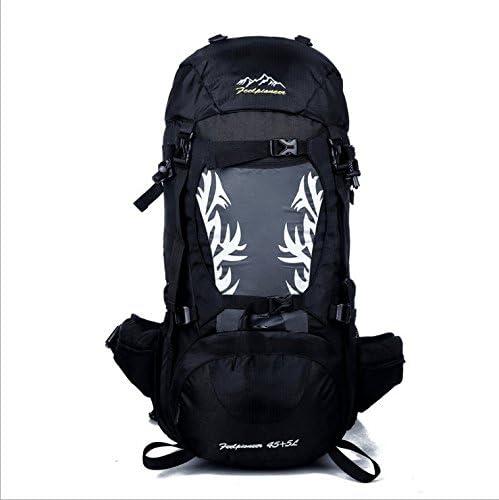 KERVINZHANG Sac à Dos de Voyage de Sac Sac Sac à Dos de ran ée imperméable avec la Couverture de Pluie pour l'escalade Camping Alpinisme (Color : Black) | La Mode De  3b517a