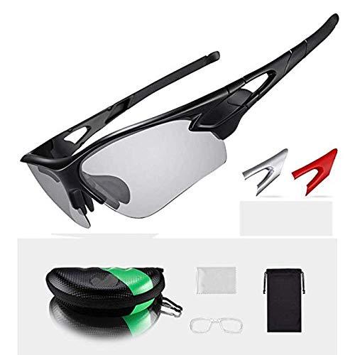 Czp Sonnenbrillen, polarisierte Radbrillen Outdoor-Sportarten MTB-Fahrrad-Sonnenbrillen Eyewear Myopia Frame, geeignet für Outdoor-Sportarten,B