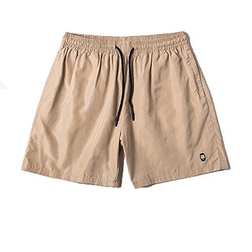 hippolo Herren Dry Fit Performance Boardshorts Wasser Sport Beach Short mit Taschen Blend Khaki L - Boardshorts Khaki