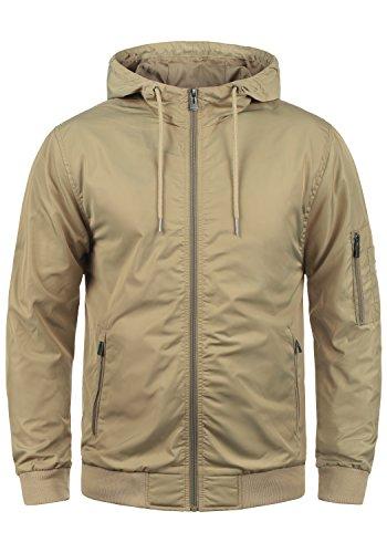 Blend Razy Herren Übergangsjacke Herrenjacke Jacke mit Kapuze, Größe:S, Farbe:Safari Brown (75115)