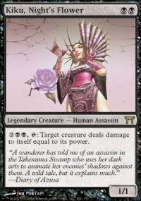 Magic: the Gathering - Kiku, Night's Flower - Champions of Kamigawa by...