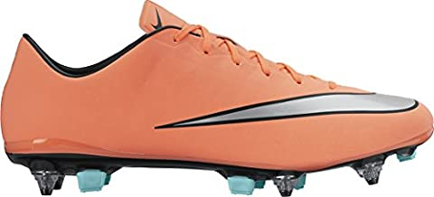 Nike Herren Mercurial Veloce II SG-Pro Fußballschuhe, Gelb / Silber / Grün (Brght Mng / Mtllc Slvr-Hypr Trq), 42 1/2