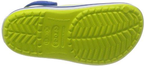 crocs Unisex-Kinder Crocband Kids Clogs Orange (Citrus/Sea Blue)