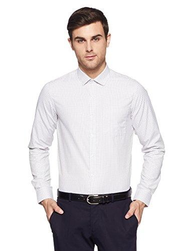 Excalibur EX Men's Solid Regular Fit Formal Shirt (276227231 White 42)
